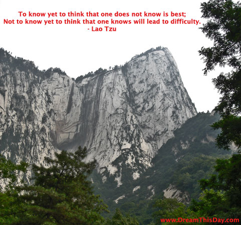 Quotes on To Know Yet To Think That One Does Not Know Is Best  By Lao Tzu