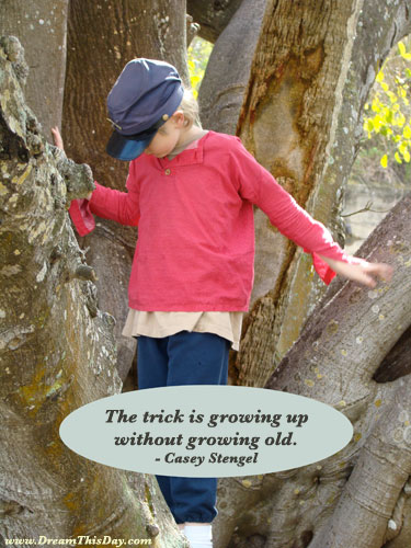 Growing Up Quotes. The trick is growing up without growing old.